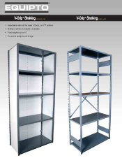 V-Grip Shelving Cut Sheet